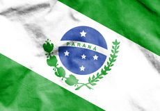Flag of Parana, Brazil. Royalty Free Stock Photo