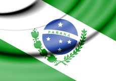Flag of Parana, Brazil. Stock Photography