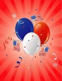 Flag party retro Stock Image