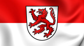 Flag of Passau City, Germany. Royalty Free Stock Photos