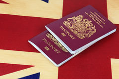 Flag and passports Royalty Free Stock Photos