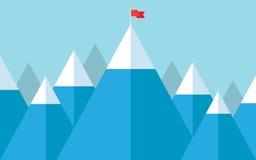 Flag on the peak Stock Image