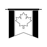 Flag pennant canadian pictogram Royalty Free Stock Image