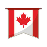 Flag pennant canadian red and white Royalty Free Stock Photos