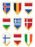 Flag pennants Royalty Free Stock Images