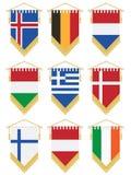 Flag pennants vector illustration