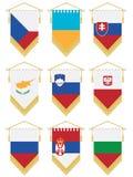 Flag pennants stock illustration