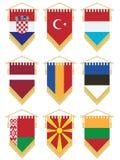 Flag pennants royalty free illustration