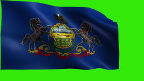 Flag of Pennsylvania, PA, Harrisburg, Philadelphia, December 12 1787, State of The United States of America, USA state - LOOP stock video footage