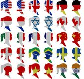 Flag people Royalty Free Stock Image