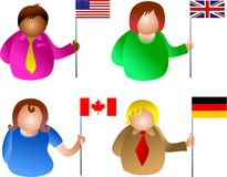 Flag people vector illustration