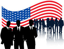 Flag and people Stock Photo