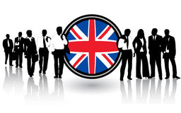 Flag and people Royalty Free Stock Images