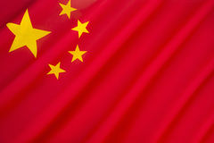 Flag of the Peoples Republic of China. The red represents the communist revolution; the five stars and their relationship represent the unity of the Chinese Stock Images