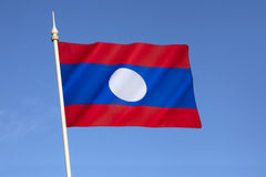 Flag of The Peoples Republic of Laos Stock Photos