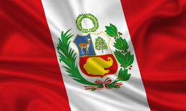 Flag of Peru. 3d rendered flag of peru Stock Images