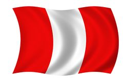 Flag of Peru. Waving flag of Peru Royalty Free Stock Photo