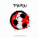 Flag of Peru as an abstract soccer ball. Abstract soccer ball painted in the colors of the Peru flag. Vector illustration Royalty Free Illustration