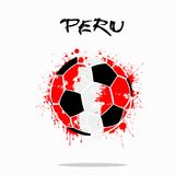 Flag of Peru as an abstract soccer ball. Abstract soccer ball painted in the colors of the Peru flag. Vector illustration Vector Illustration