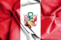 Flag of Peru. 3d Rendered Flag of Peru Stock Photos