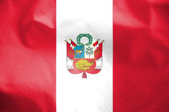 Flag of Peru. 3d Rendered Flag of Peru Royalty Free Stock Image