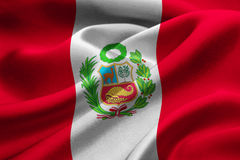 Flag of Peru Stock Photography