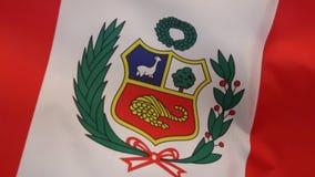 Flag of Peru - South America stock footage