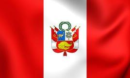 Flag of Peru war Stock Photo