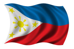 Flag of the Philippines. Waving in the wind - clipping path included vector illustration