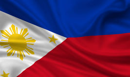 Flag of the philippines. 3d rendered flag of the philippines