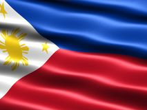 Flag of the Philippines. Computer generated illustration with silky appearance and waves royalty free illustration