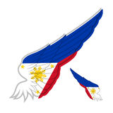 Flag of Philippines on abstract Wing and white background. Vecto Royalty Free Stock Photography