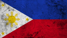 Flag of the Philippines close up Stock Images