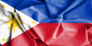 Flag of Philippines. 3d Rendered Flag of Philippines stock illustration