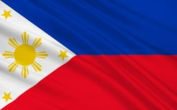 Flag of Philippines. Officially known as the Republic of the Philippines is a sovereign island country in Southeast Asia situated in the western Pacific Ocean vector illustration