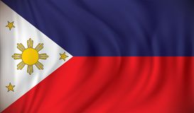 Flag of Philippines. Vector illustration Royalty Free Stock Photo