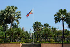 Flag of Philippines in intramuros, Manila Royalty Free Stock Photos