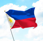 Flag of Philippines. Raised Up in The Sky Stock Images