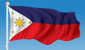 Flag of Philippines. Vector illustration Royalty Free Stock Photos