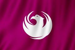 Flag of Phoenix city, Arizona US royalty free illustration