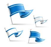 Flag Pin royalty free illustration