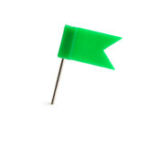 Flag a pin green Royalty Free Stock Photos