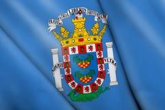Flag pin - Melilla (SPAIN). This is an illustration of folded flag Stock Photos