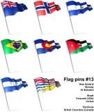 Flag pins #13 Stock Image