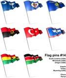 Flag pins #14 Stock Photos