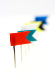 Flag pins Stock Photography