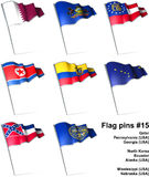 Flag pins #15 Stock Images