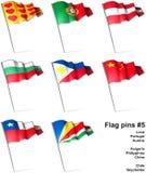Flag pins #5 Stock Photo