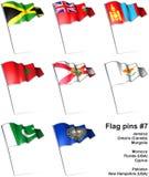 Flag pins #7 Royalty Free Stock Photos