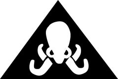 Flag pirate octopus Royalty Free Stock Photos